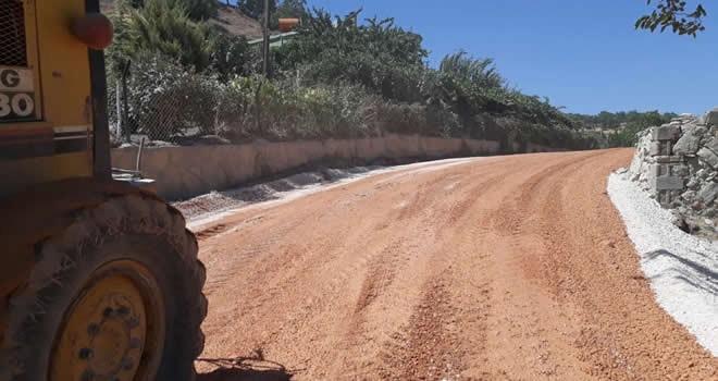 Büyükşehir Belediyesi yol yapım çalışmasına hız kesmeden devam ediyor
