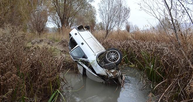 Kahramanmaraş'ta otomobil sulama kanalına uçtu; anne ve oğlu yaralandı
