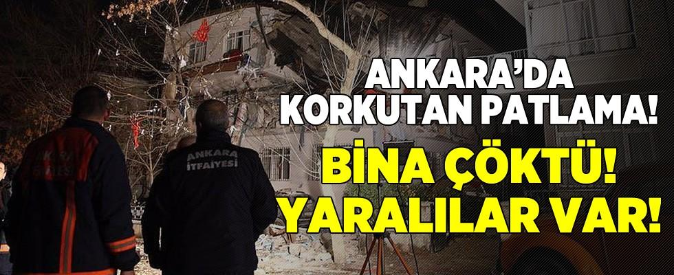 Ankara'da korkutan patlama sesi! Büyük panik