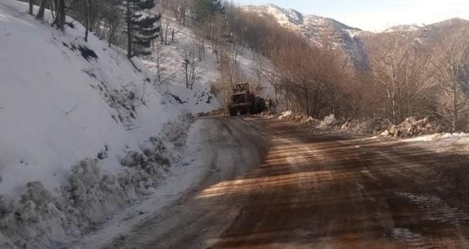 Büyükşehir Belediyesi'nden kar temizliği!