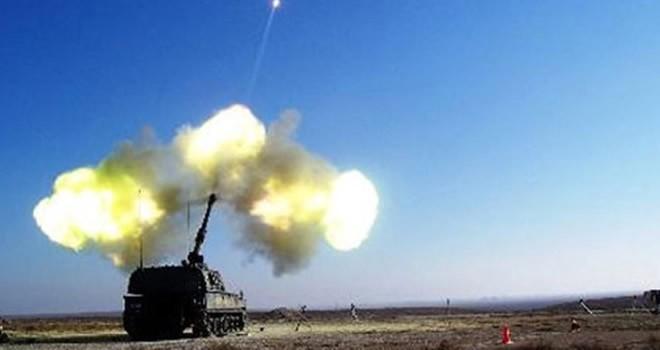 TSK Afrin'deki PYD mevzilerini topa tuttu