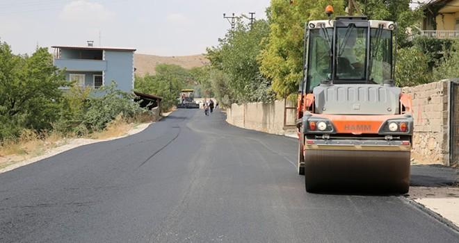 Afşin'de altyapı ve sıcak asfalt çalışması