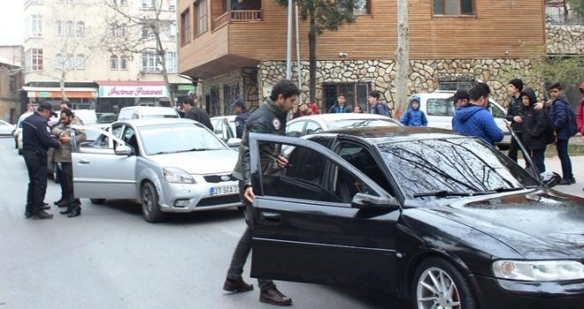 Kahramanmaraş'ta okul önlerinde uygulama