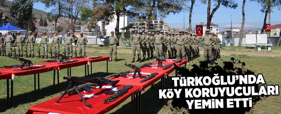 Türkoğlu'nda 28 geçici köy korucusu yemin etti