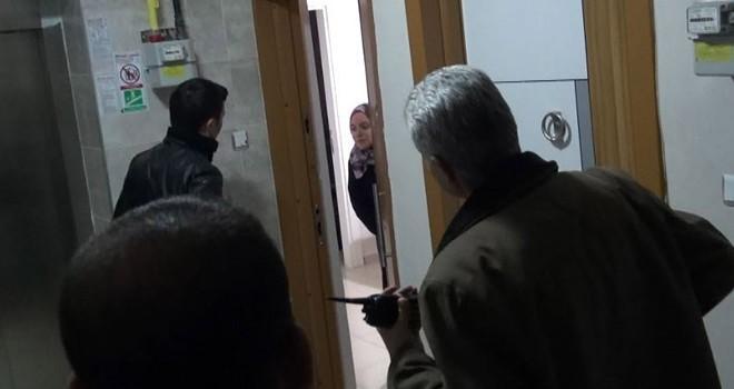 Kahramanmaraş'ta apartlara polis baskını
