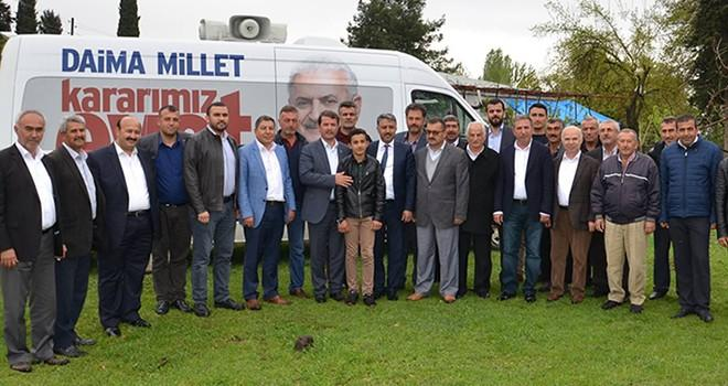 Türkoğlu'nda referandum çalışmaları devam ediyor