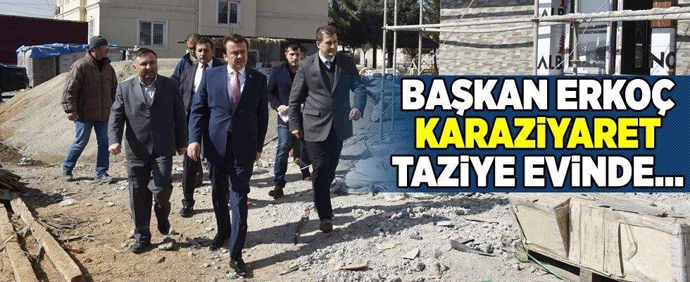 Başkan Erkoç, Karaziyaret Taziye Evi'nde incelemelerde bulundu