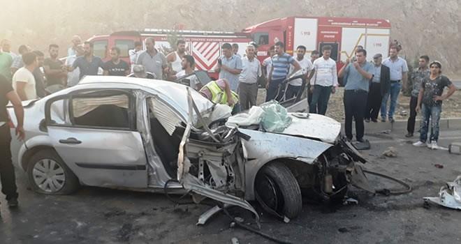 Kahramanmaraş'ta taklalar atan otomobilden sağ çıktı