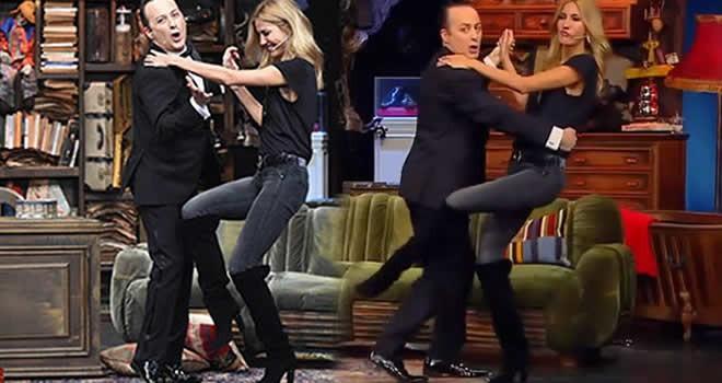 Tolga Çevik ve Çağla Şikel'den kahkaha dolu tango!