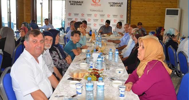 Türkoğlu'nda şehit aileleri ve gaziler onuruna yemek