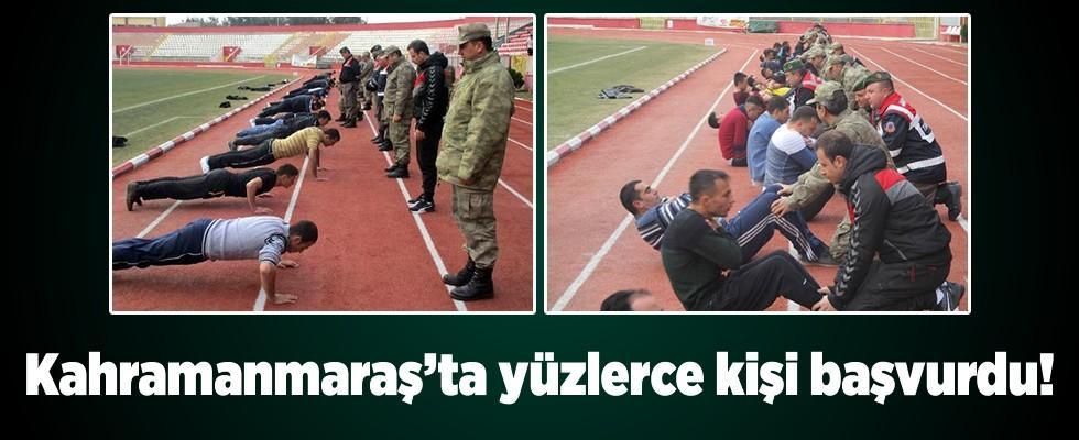 Kahramanmaraş'ta korucu olabilmek için yüzlerce kişi ter döktü!