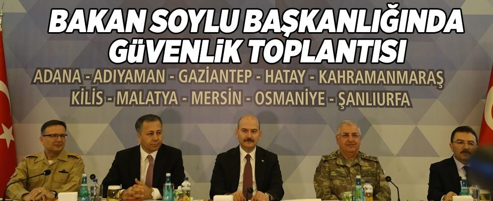 Bakan Soylu, 'Halk Oylaması Bölge Güvenlik Toplantısı'na başkanlık yaptı