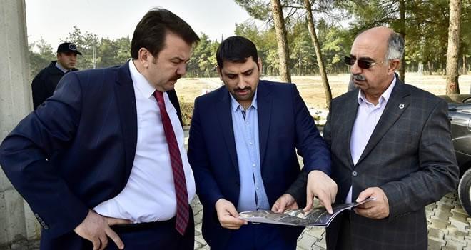 Başkan Erkoç'tan yeni mezarlık alanında inceleme