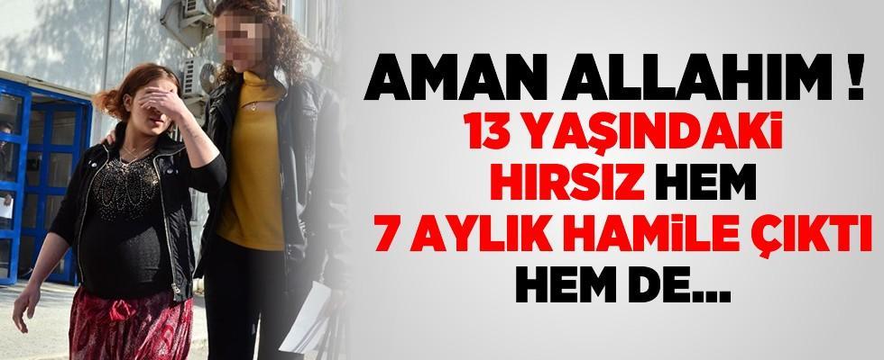 Adana'da hırsızlıktan suçüstü yakalanan 13 yaşındaki kız hamile çıktı