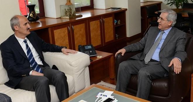 Başkan Okay'dan Rektör Can'a tebrik ziyareti