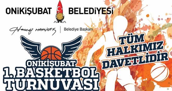 Onikişubat Belediyesi 1.Basketbol turnuvası başlıyor!