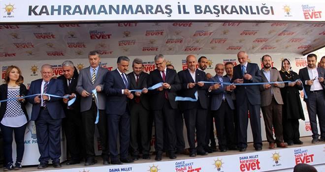 Kahramanmaraş'ta 'EVET' ofsisi açıldı