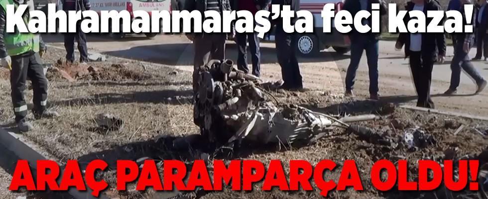 Elbistan'da feci trafik kazası! 2 yaralı