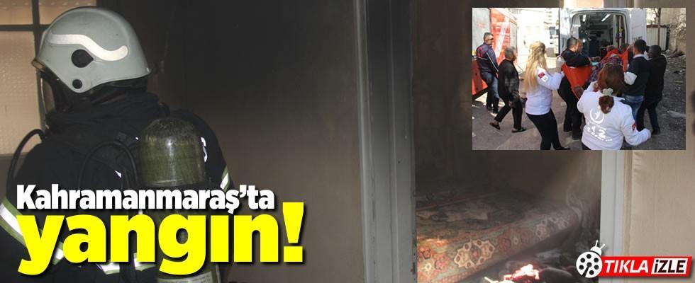 Kahramanmaraş'ta elektrik kontağı yangın çıkarttı