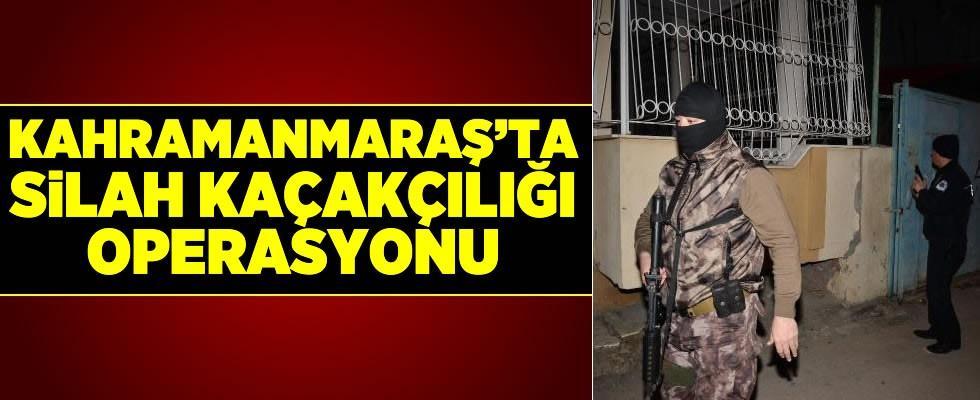 Kahramanmaraş dahil 3 ilde silah kaçakçılığı operasyonu: 13 gözaltı