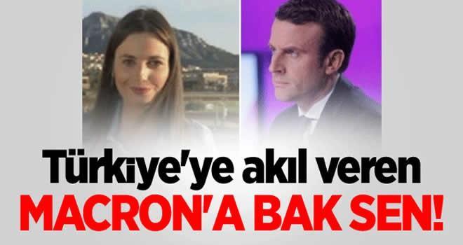 Türkiye'ye akıl veren şu Macron'a baksen!