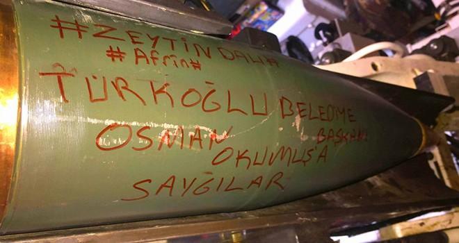 Başkan Okumuş'un adı bombanın üzerine yazıldı