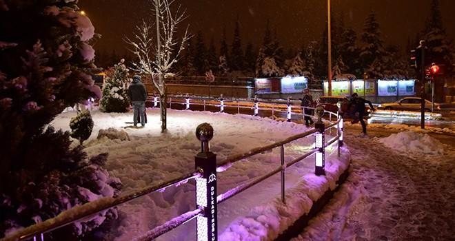 Dulkadiroğlu İlçesinde kar manzaraları