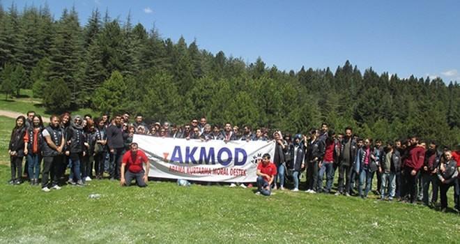 Büyükşehir Belediyesi Akmod gönüllüleri kamp yaptı!