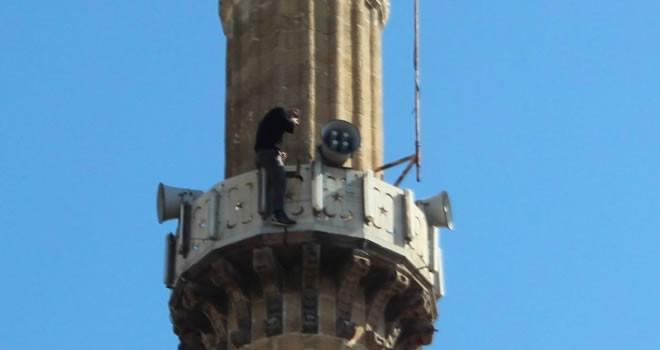 Aydın'da Cami Minaresinde intihar girişimi