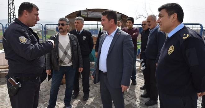 Başkan Okumuş, güvenlik güçlerini ziyaret etti