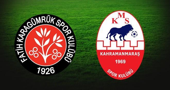 Fatih Karagümrük-Kahramanmaraşspor maçının 11'leri belli oldu