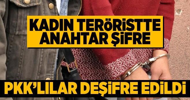 PKK'lı kadın teröristten çıkan şifre örgüt üyelerini deşifre etti