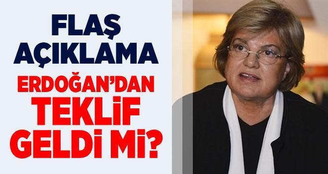 Tansu Çiller'den iddialara yanıt: Teklif dahi gelmedi!