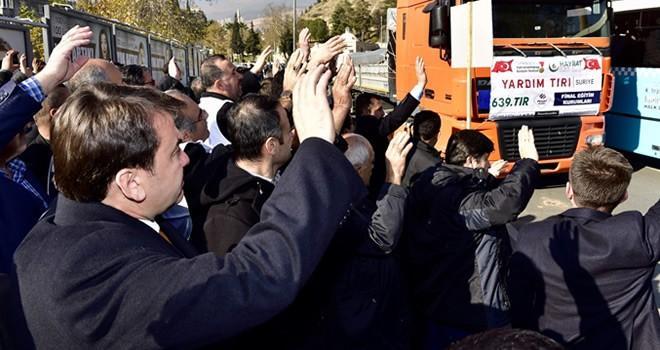 Kahramanmaraş'tan Suriye'ye yardım köprüsü