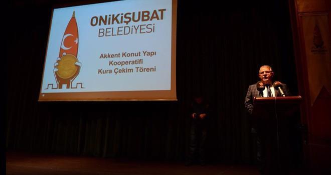 Onikişubat Belediyesi Konut üye Kura Çekimi