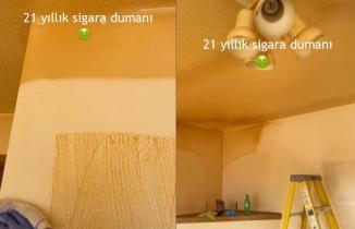 21 yıl sigara içilen evin temizlendiği görüntüler viral oldu