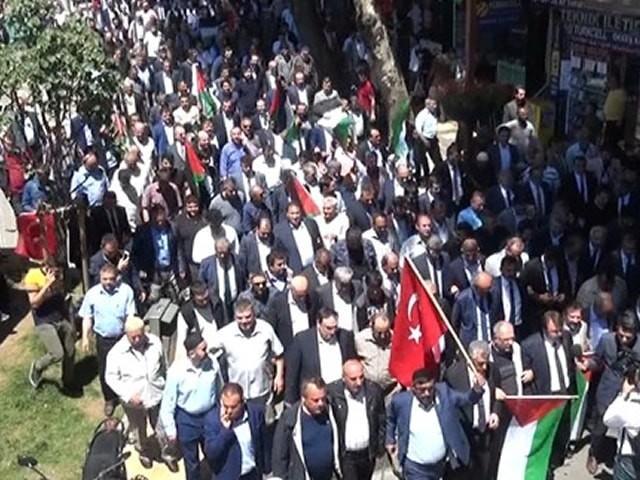 Kahramanmaraş'ta 'Kudüs' protestosu