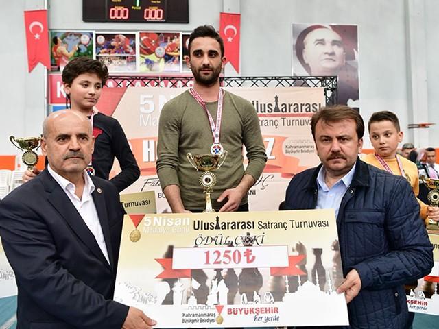 Kahramanmaraş'ta 'Satranç Turnuvası' ödülleri dağıtıldı