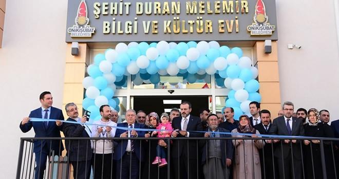 Şehit Duran Melemir Bilgi ve Kültür Evi açıldı