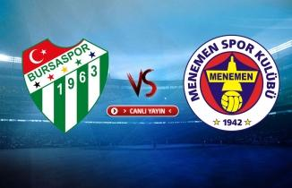 Bursaspor - Menemenspor maçı (CANLI İZLE)