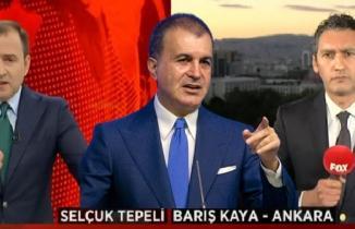 AK Partili Ömer Çelik muhalif kanal FOX TV çıkarttırıp öyle salona girdi