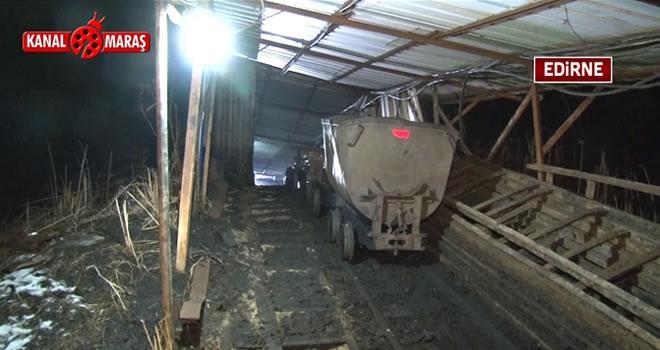 Edirne'de maden ocağında göçük