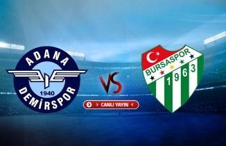 Adana Demirspor - Bursaspor maçı (CANLI İZLE)