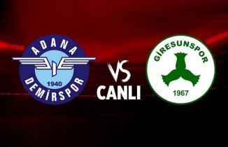 Adana Demirspor - Giresunspor (CANLI İZLE)