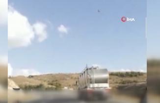 Afyonkarahisar'da canlı yayına girdikten saniyeler sonra kaza yaptılar