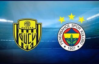 Ankaragücü Fenerbahçe maçı (CANLI İZLE)
