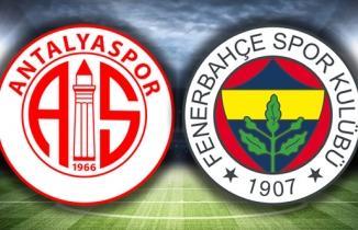Canlı Antalyaspor - Fenerbahçe Maçı İzle! Antalya Fener şifresiz Bein Sports 1 izle