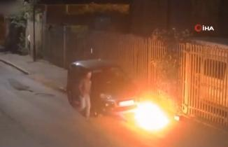 Londra'da park halindeki araç kundaklandı
