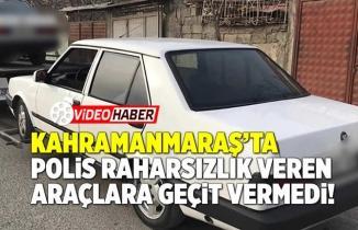 Kahramanmaraş'ta Polis rahatsızlık veren araçlara geçit vermedi! 116 araç...