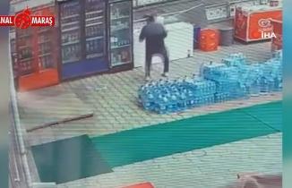 Ankara'da üçlü prize dokunan bakkalın çarpılma anı